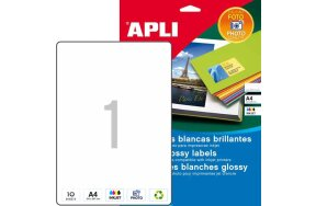 APLI LABELS N.02926 PHOTO GLOSSY INKJET 199,6x289,1mm